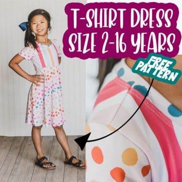 free t-shirt dress pattern