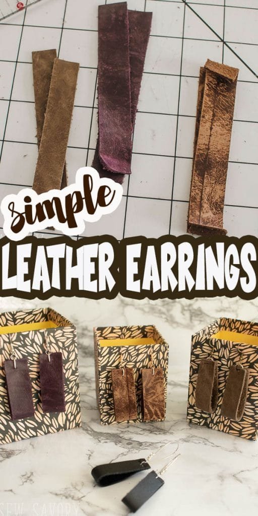 simple leather earrings to make video and tutorial from Life Sew Savory