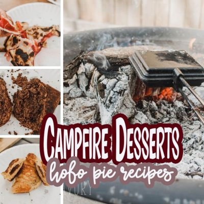 Easy Camping Desserts with campfire pie maker