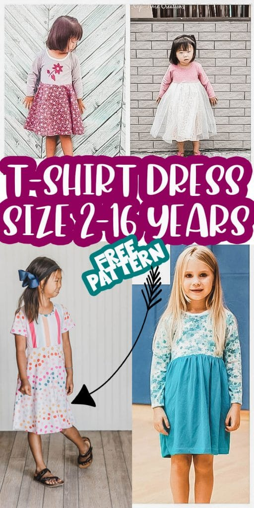 t shirt dress pattern pdf sewing from Life Sew Savory