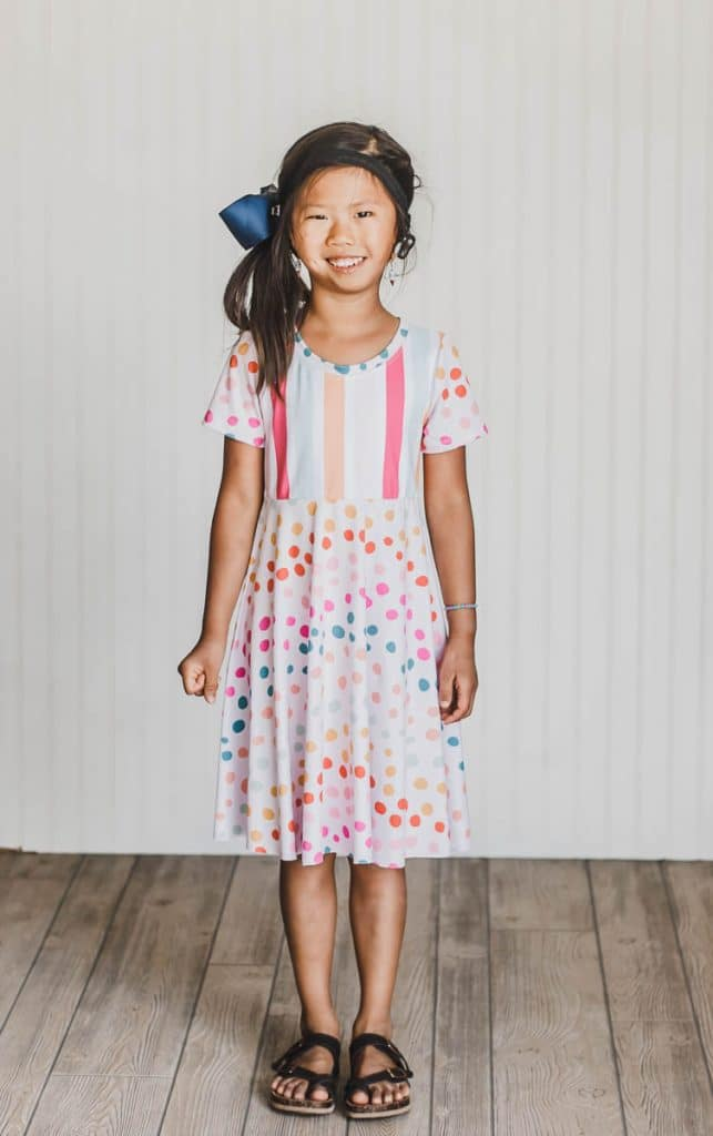 girls t shirt dress free sewing pattern