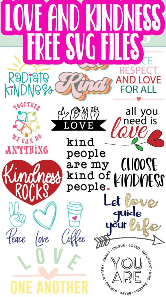free love and kindness themed svg files