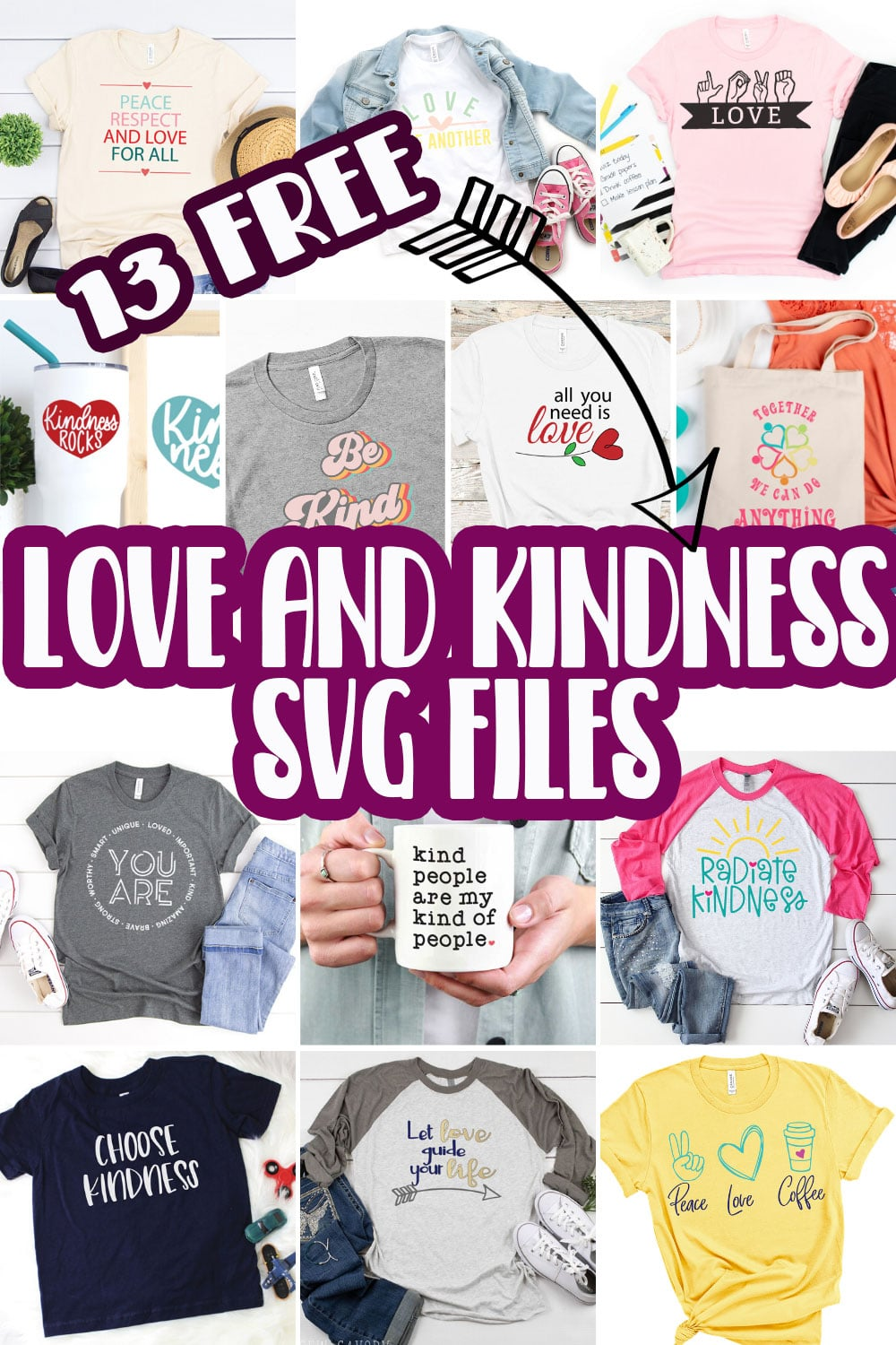 Create gorgeous love and kindness themed items and clothes with this list of free love svg files. This great list will inspire you to create fun love and kindness themed items for everyone you know. via @lifesewsavory