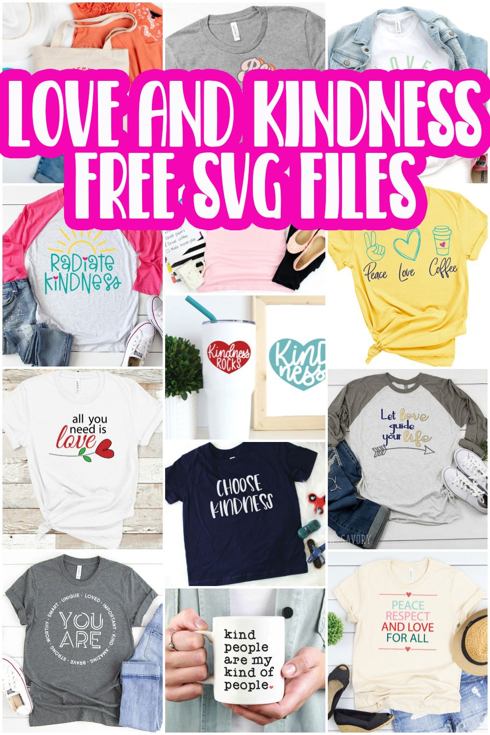 Create gorgeous love and kindness themed items and clothes with this list of free love svg files. This great list will inspire you to create fun love and kindness themed items for everyone you know.