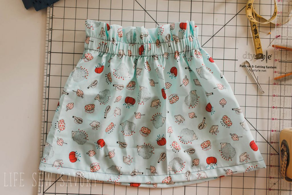 sew a paper bag skirt sewing tutorial