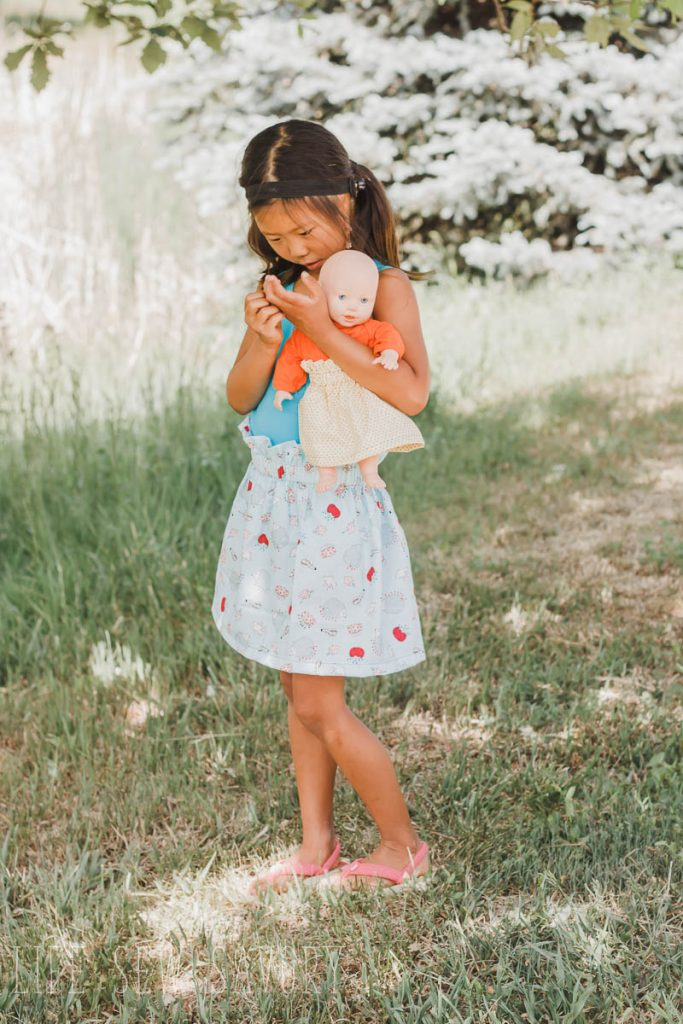 doll and girl skirt tutorial