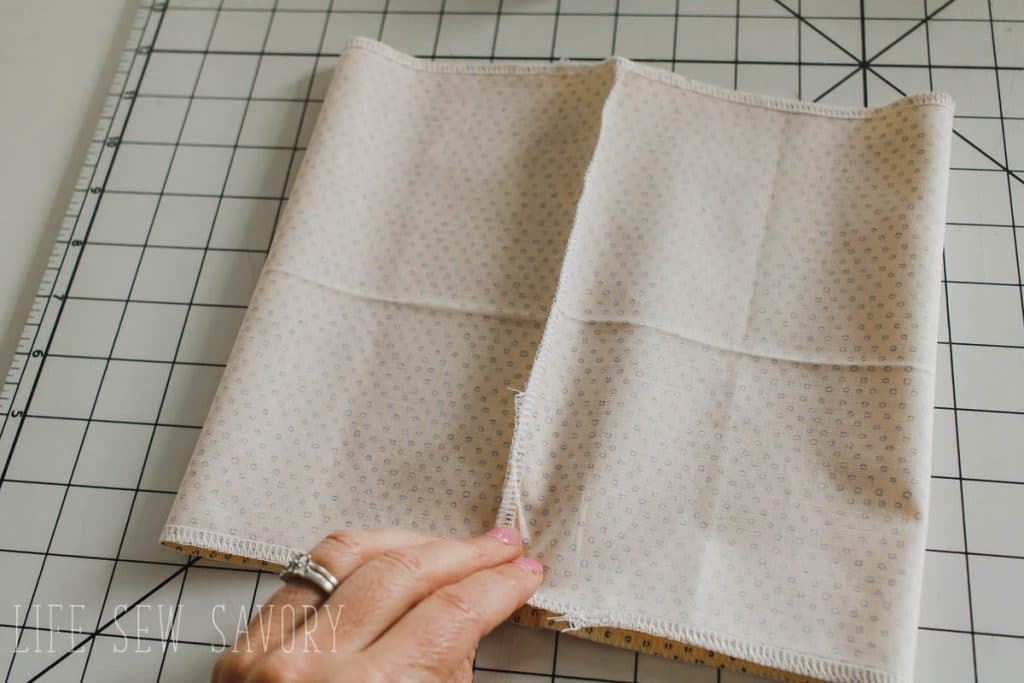 sew the back seam and finish the top and bottom