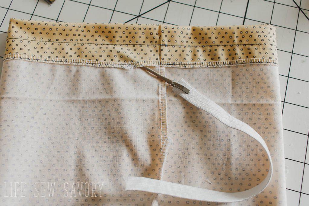 thread elastic through waistband