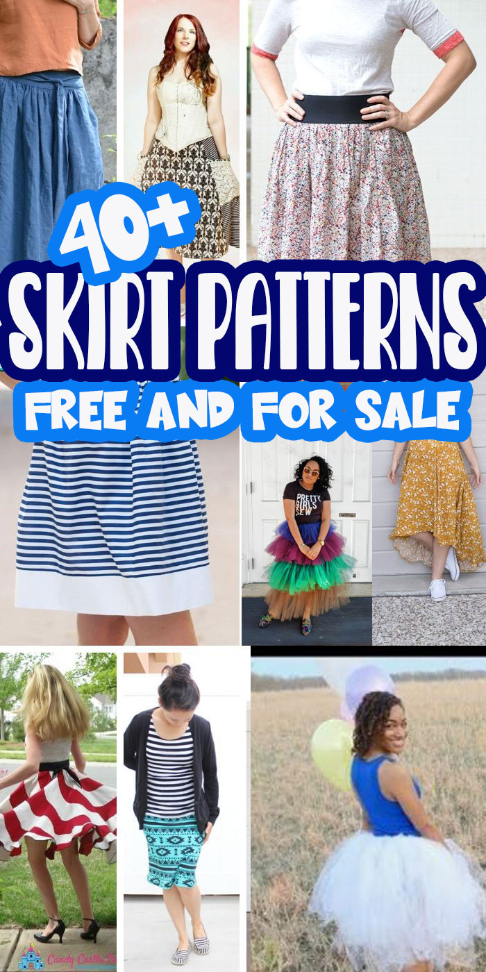 TWO lists of the best womens skirt patterns. First up a list of FREE skirt patterns and tutorials to sew for women and then an super list of amazing for sale skirt patterns as well. ENJOY! via @lifesewsavory