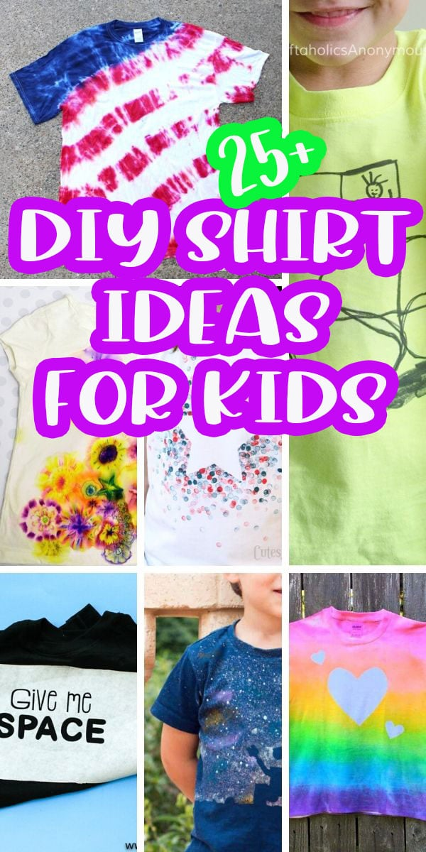 super fun diy shirt crafts for kids to make. You will love these creative diy t shirt crafts PLUS kids can make them. Hours of summer fun with diy shirt ideas for kids. via @lifesewsavory
