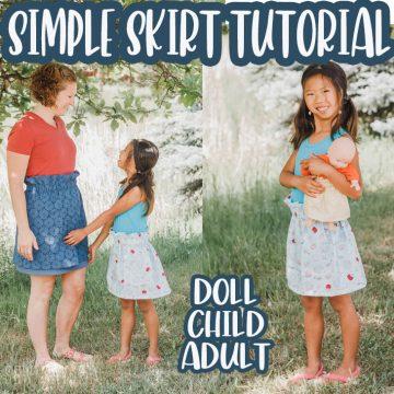 DIY easy skirt tutorial