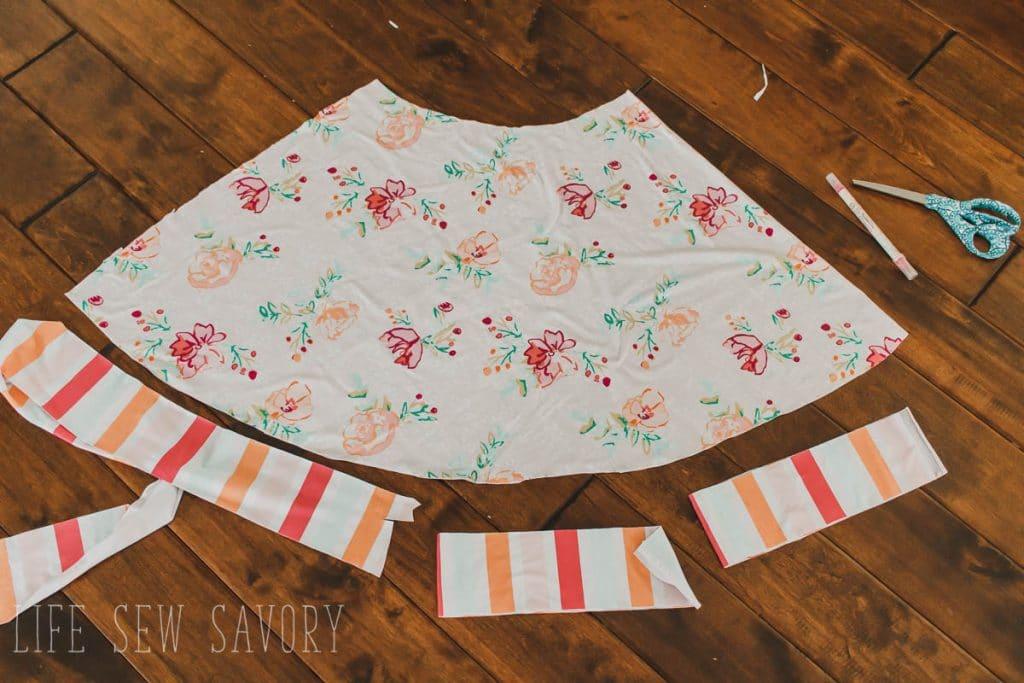 ruffle on skirt