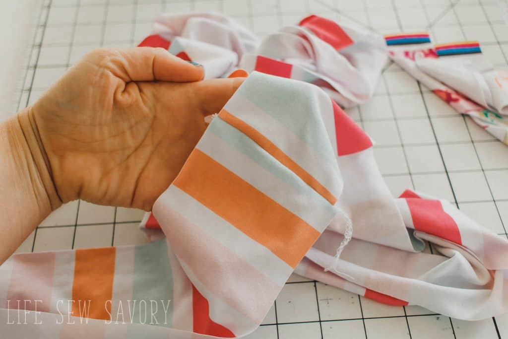 sew ruffles together