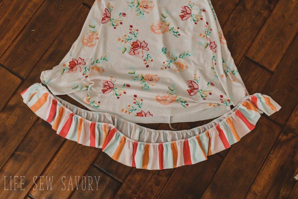 match ruffle to skirt bottom