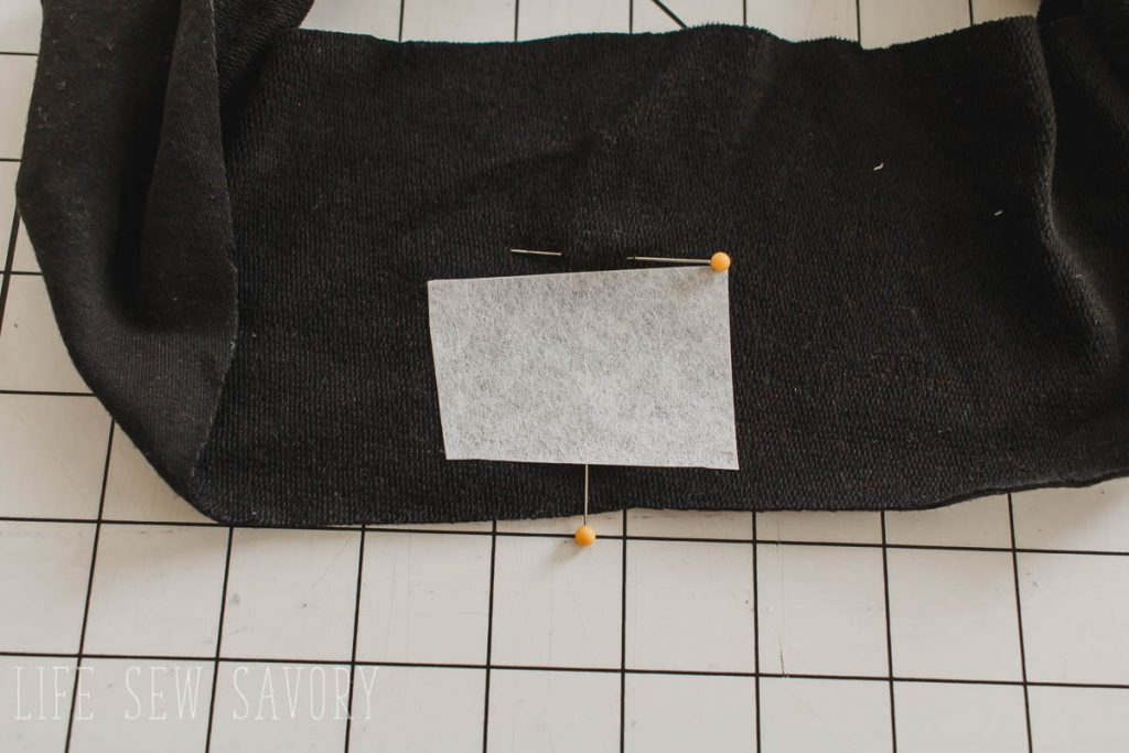 mark the center of the center of the waistband