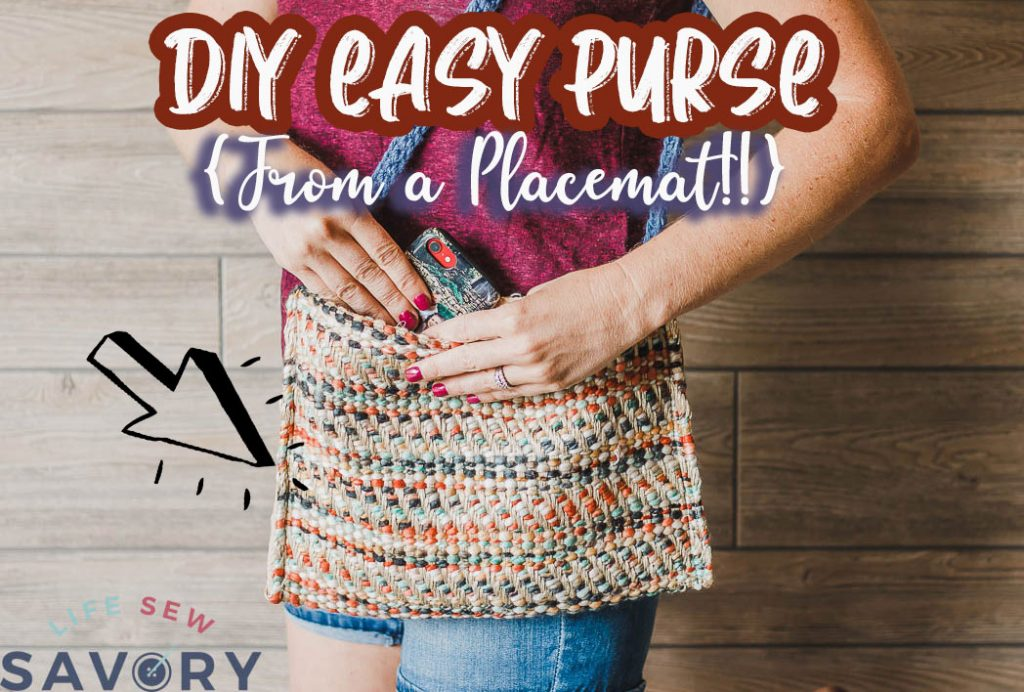 How to make a purse from a placemat tutorial