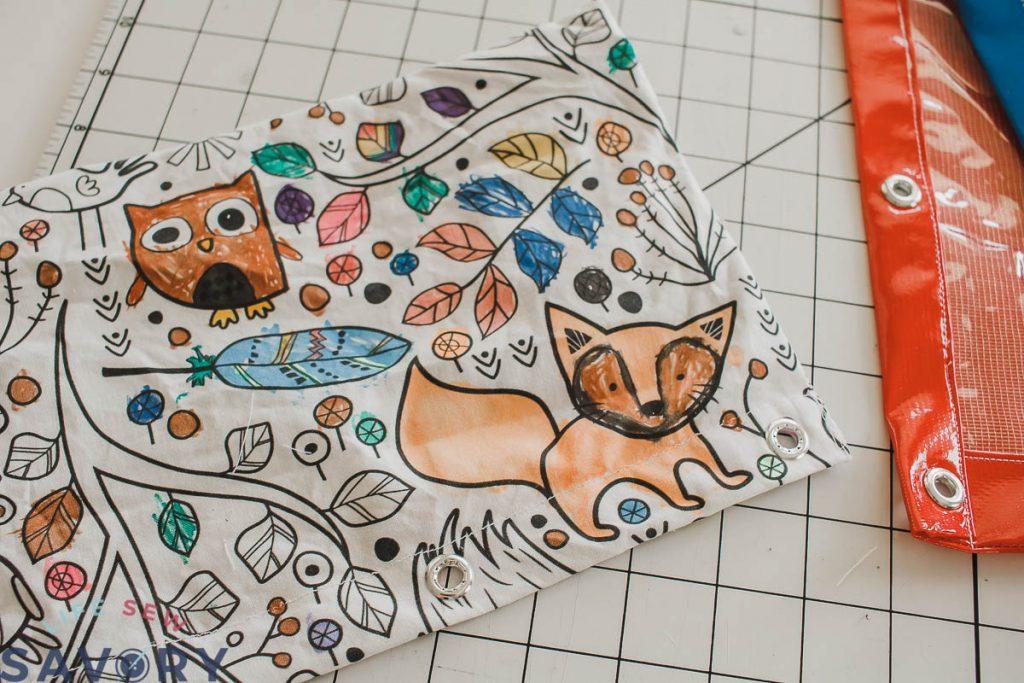 coloring fabric pencil case