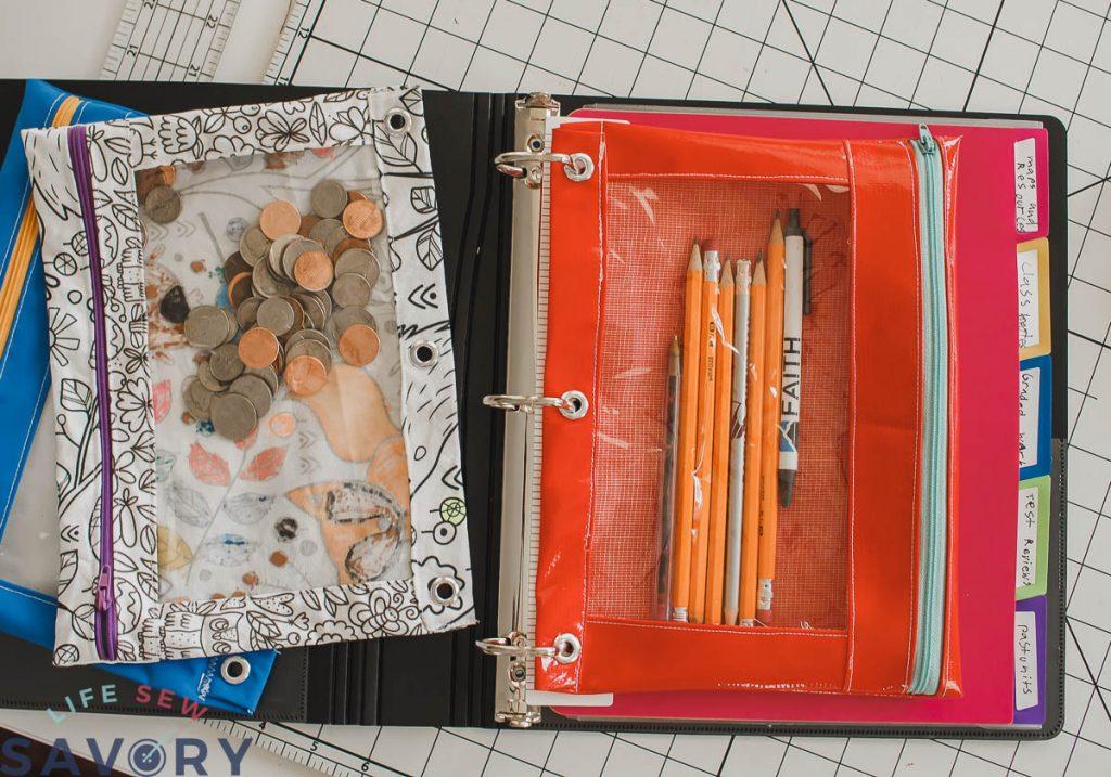 DIY binder pencil case for school