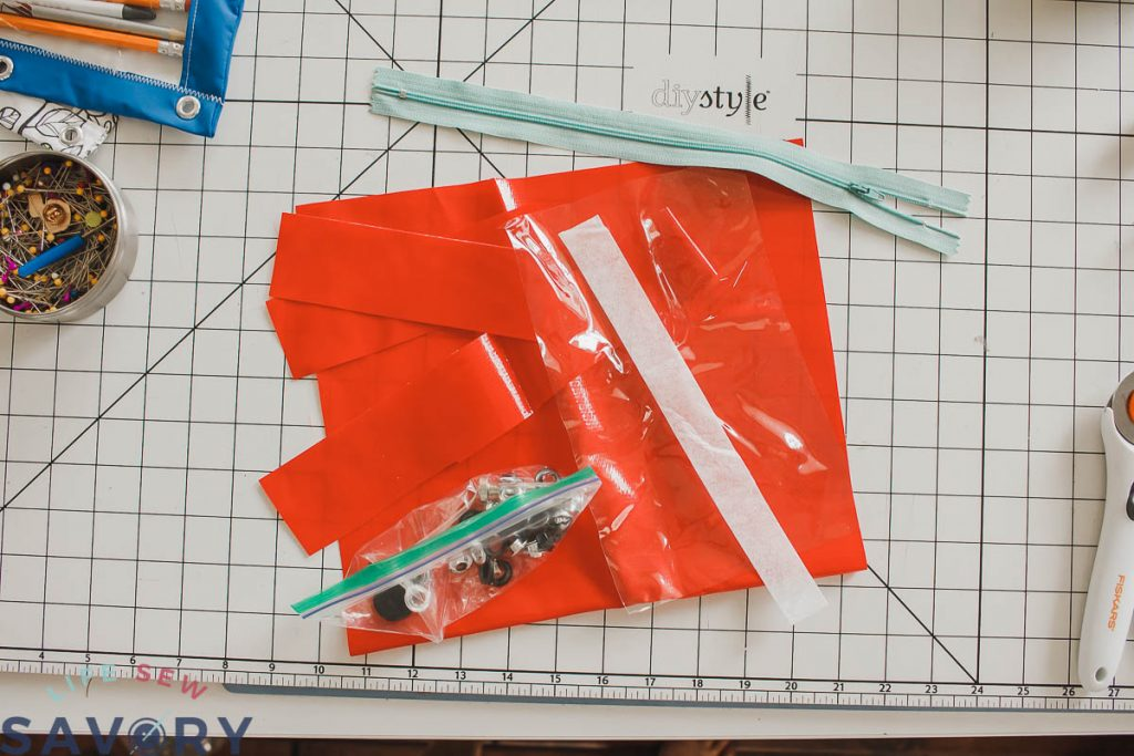 cut pattern for pencil pouch