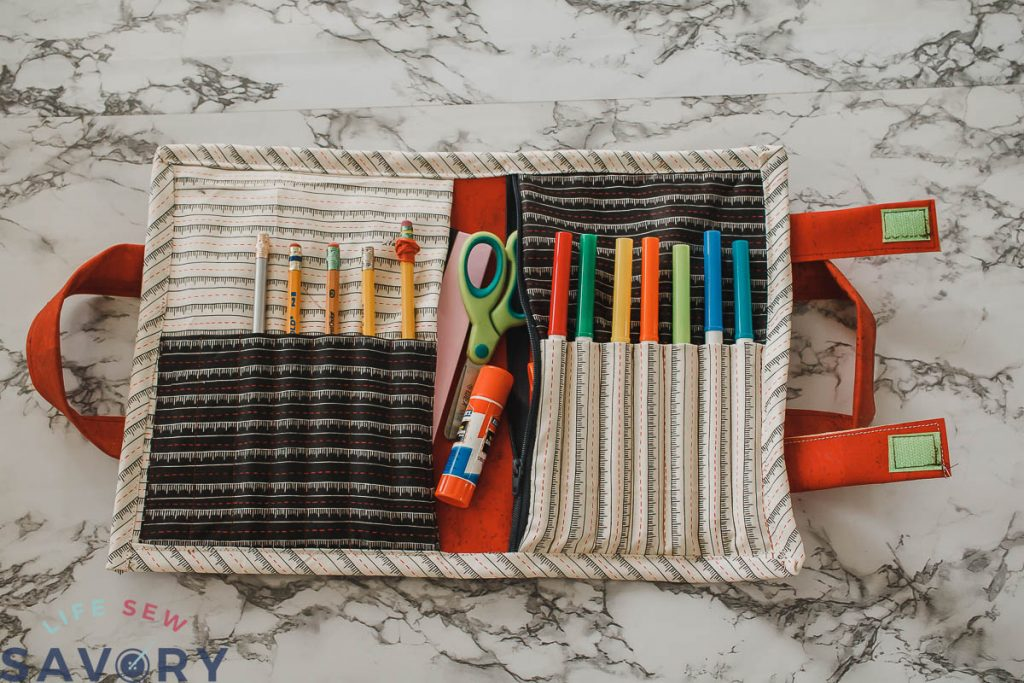 tote for school supply storage