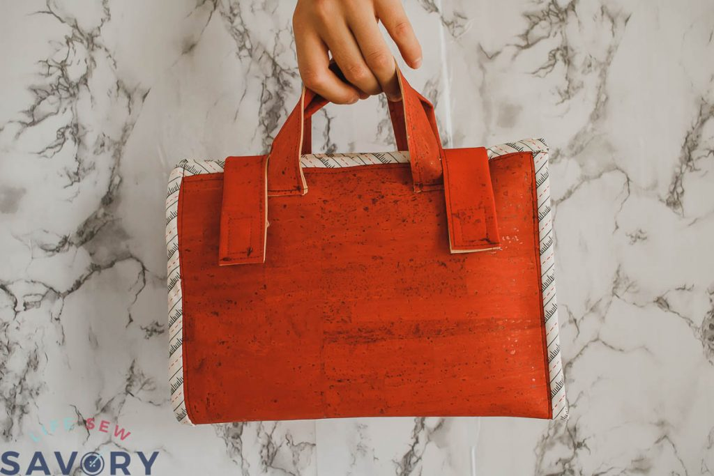 how to sew a cork tote
