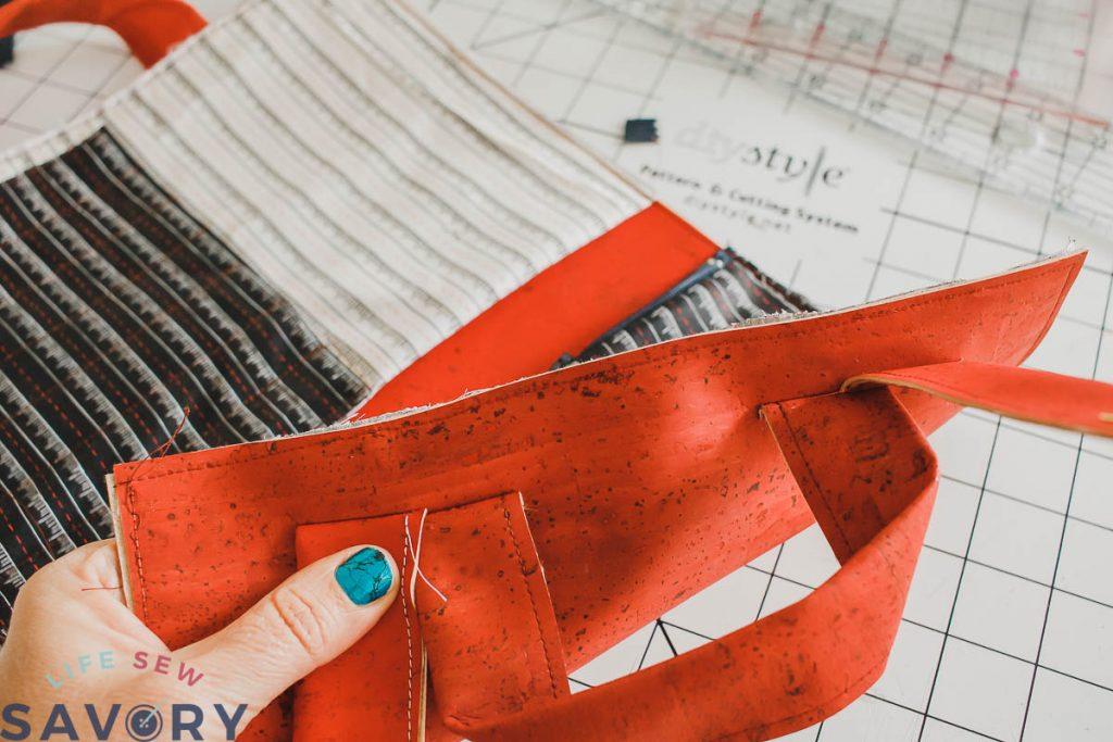 sewing bag together