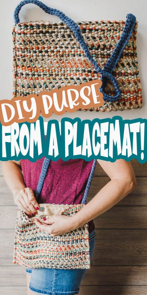 how to sew a purse from a placemat