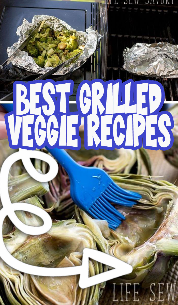 Check out this huge list of easy grilled vegetables recipes AND get tips for how to cook veggies on the grill. Perfect summer and garden season post. via @lifesewsavory