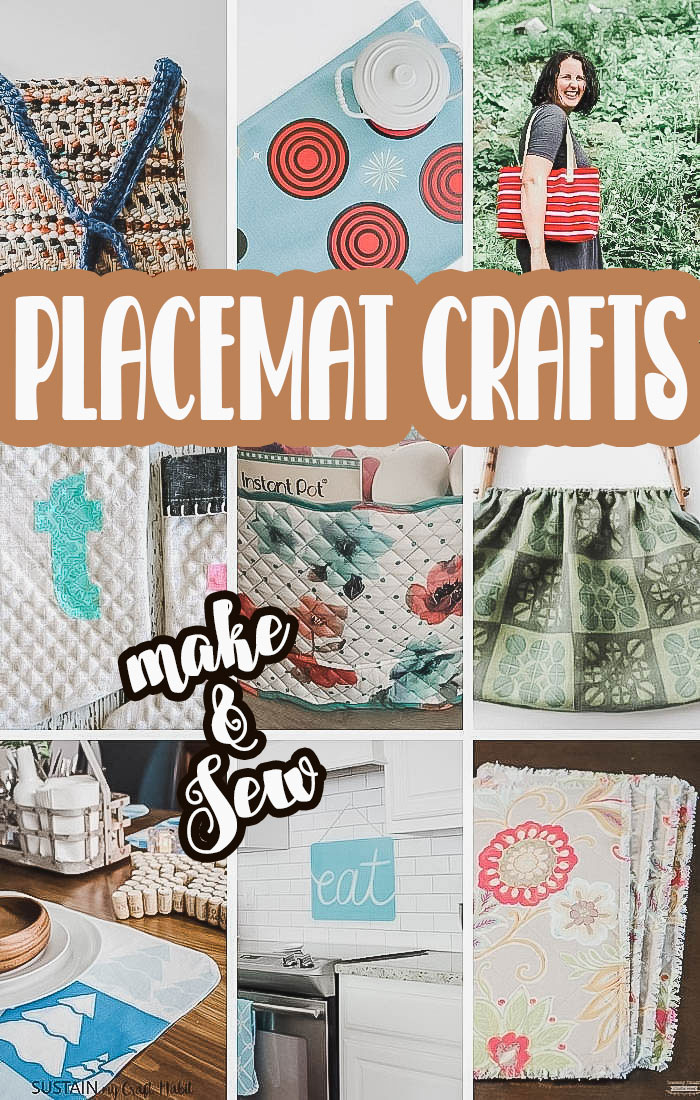 Check out this fun list of placemat crafts to make a sew. Placemats can be so much more than table decor. Enjoy these fun and unique crafts to make and sew with place mats. via @lifesewsavory