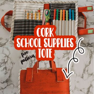 Cork School Supplies Tote free pattern