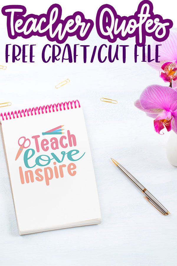 A great list of free SVG files for teachers. Use this fun list of cute files to create teacher themed crafts and DIY projects.