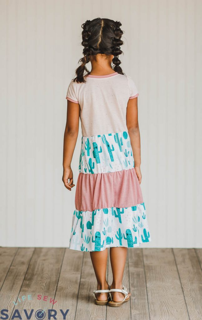 dress with tiered skirt