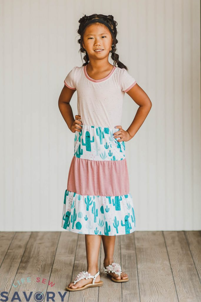 tshirt dress with tiered skirt