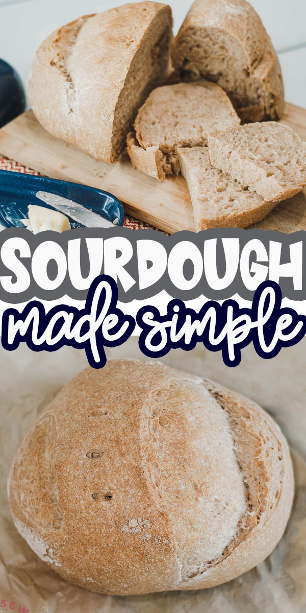 Check out my method for sourdough made simple. This tasty bread is from scratch sourdough without much fuss. My easy sourdough method is a must try. via @lifesewsavory
