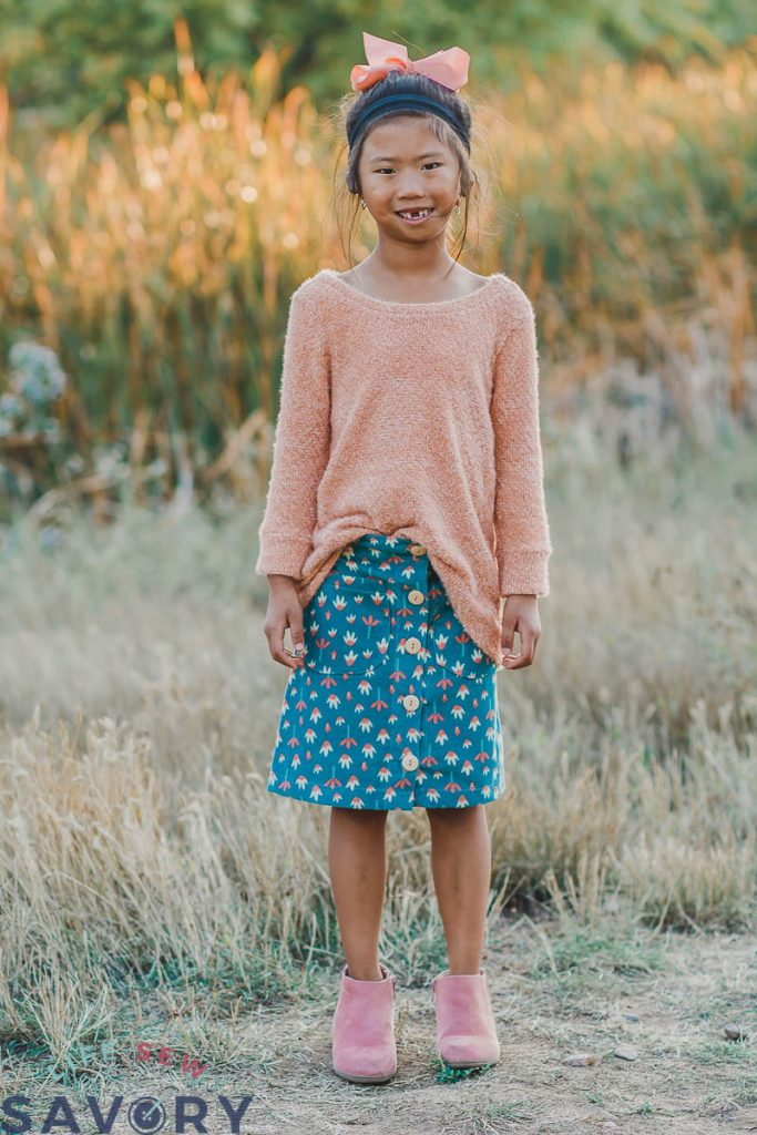 button front skirt final