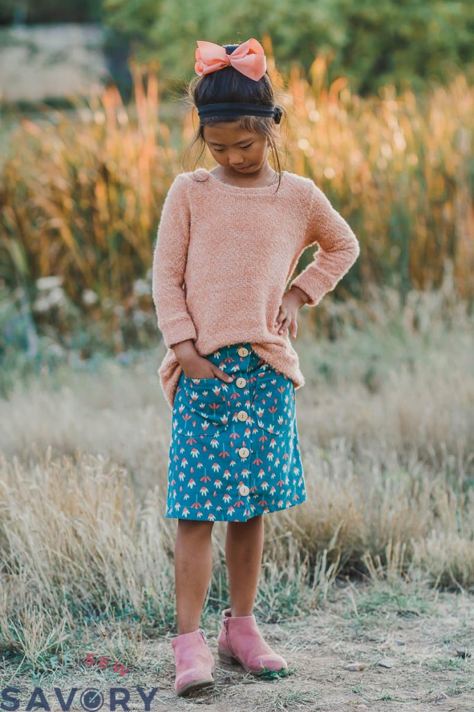 fall girls skirt free sewing pattern
