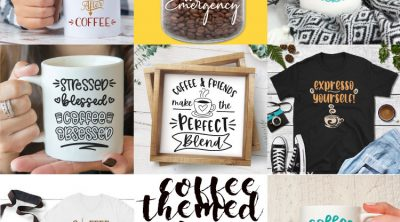 free coffee themed svg cut files