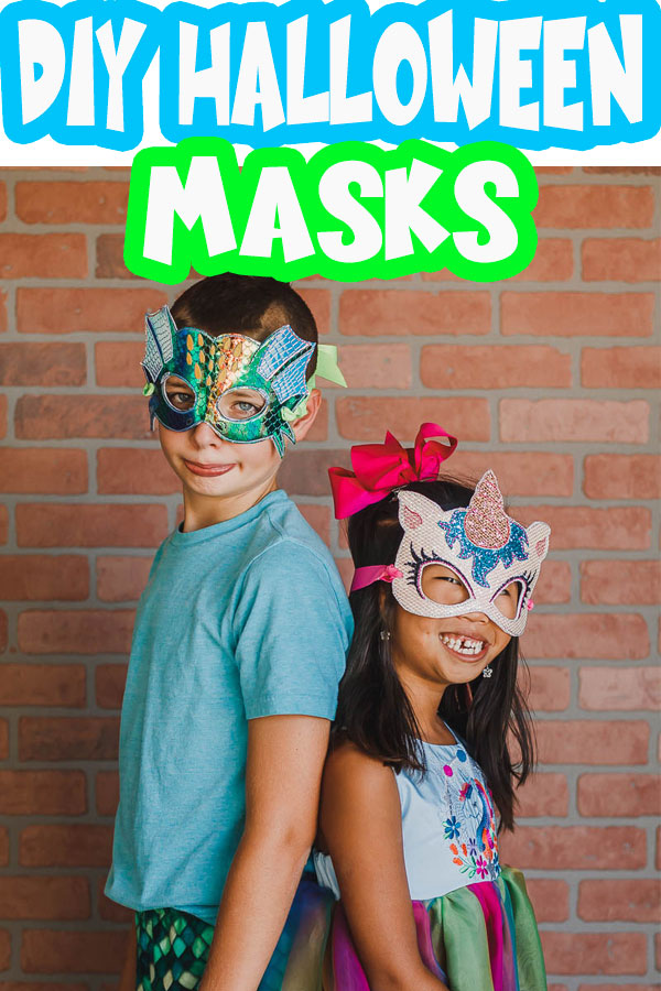 DIY halloween maks for easy costumes with embroidery machine