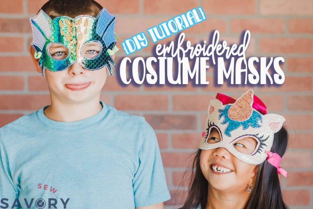 DIY halloween masks on Embroidery machine