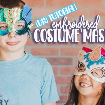 DIY halloween masks on Embroidery machine
