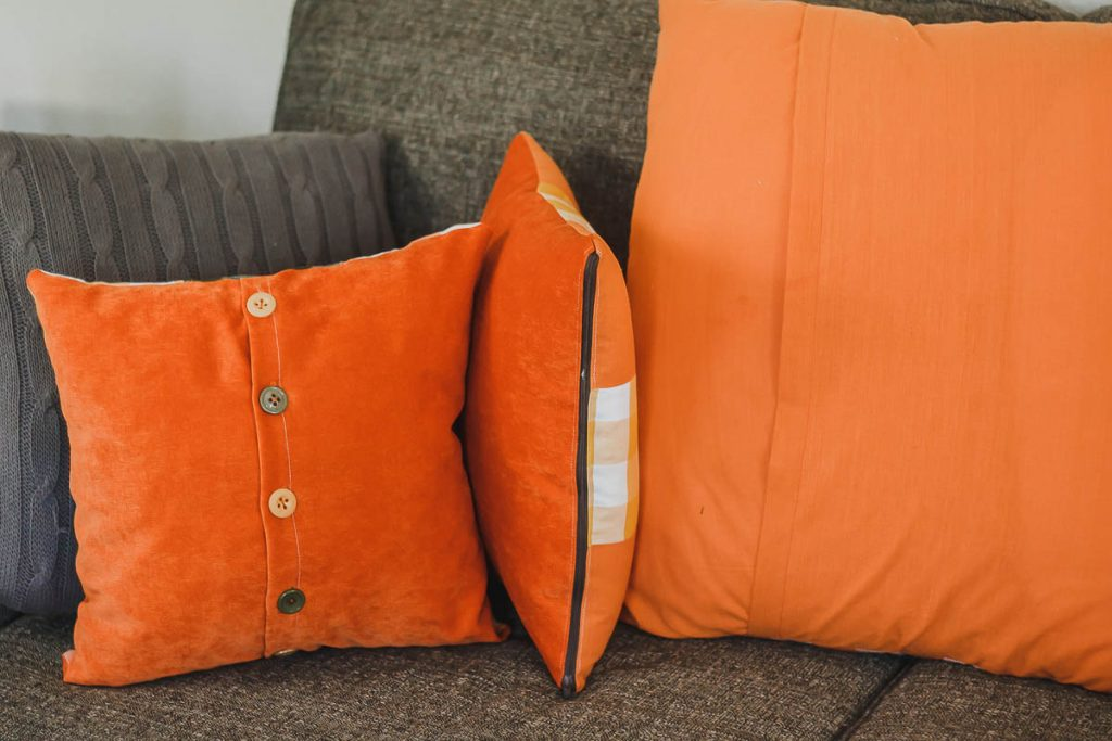 types of pillow backs