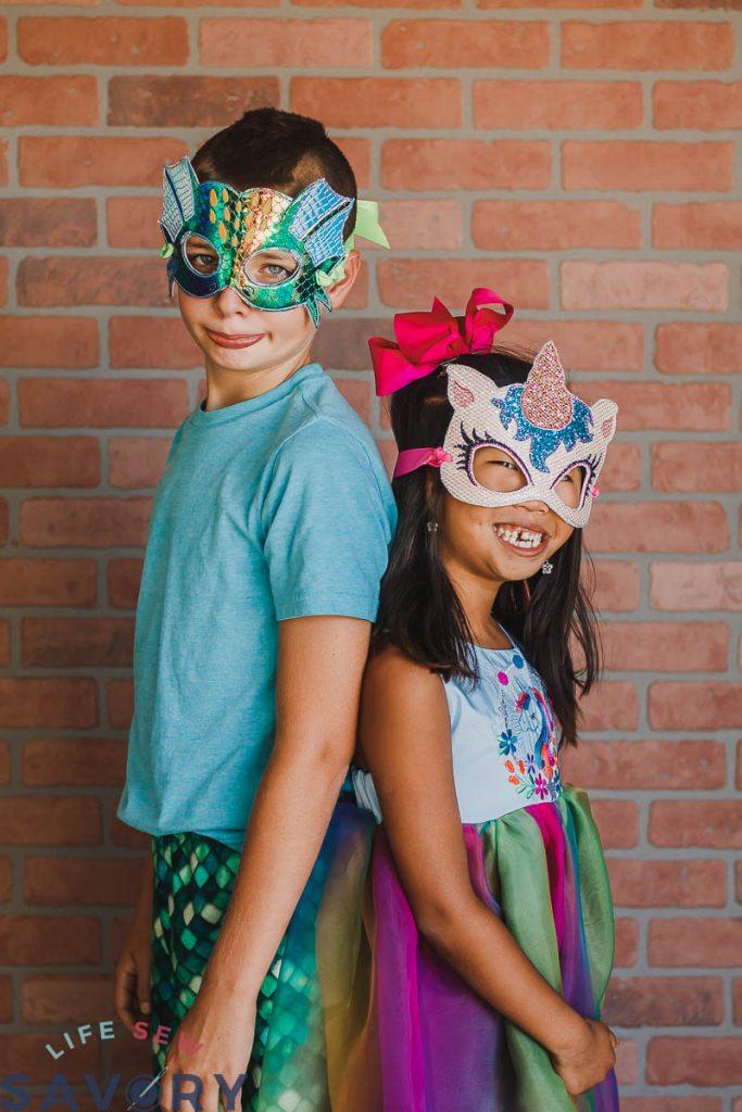 DIY costume face mask