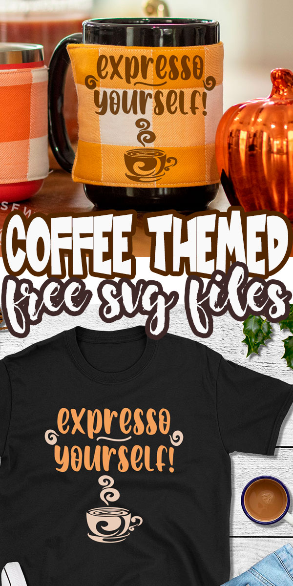 A big list of the best coffee themed SVG files, all free! Check out my Expresso yourself file as well as a great list of other free svg files from my friends.