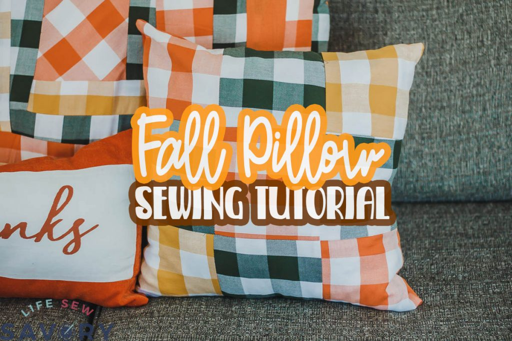 fall pillow sewing tutorial