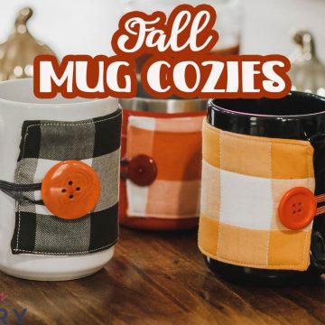fall mug cozy sewing tutorial