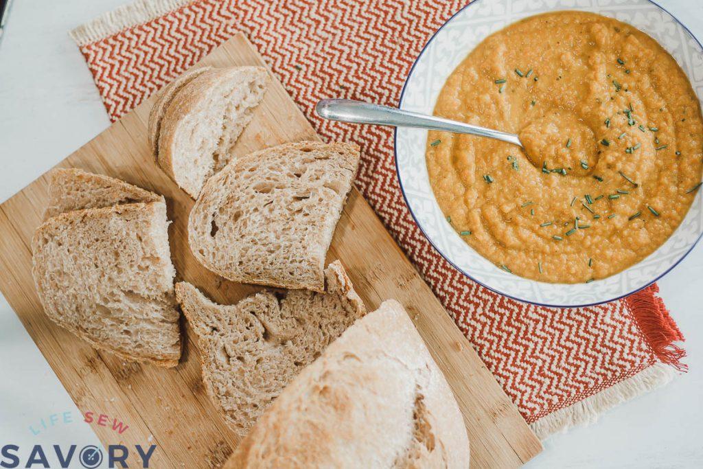 sourdough with soup