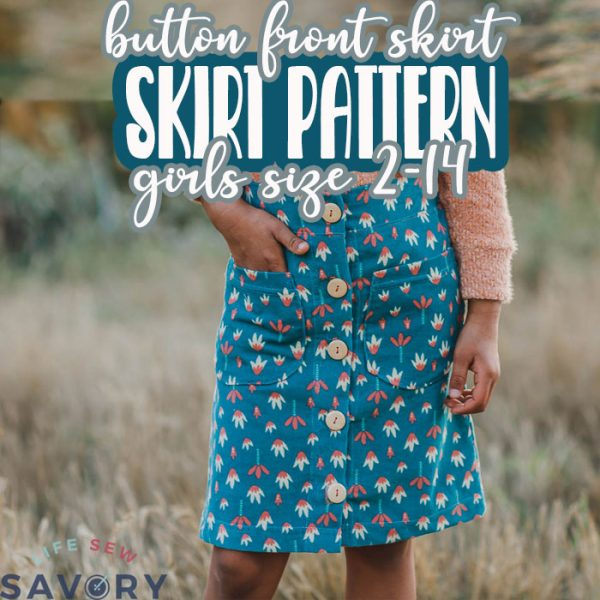 skirt pattern with buttons