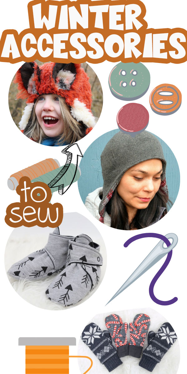 Check out this HUGE list of winter accessories to sew. Hats, mittens socks, scarves and more! You will find what you are looking for here. Lots of free or paid options this list is your go to for winter sewing fun.