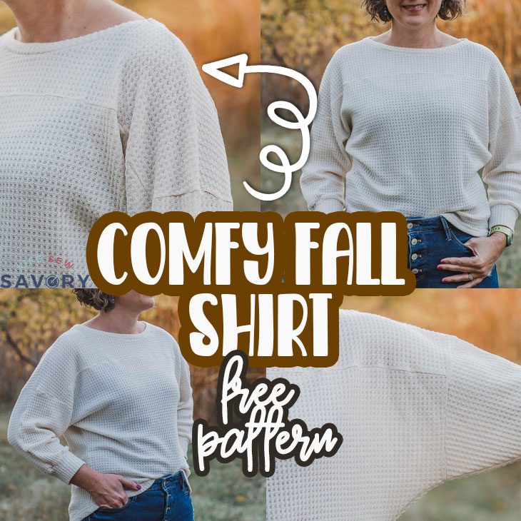 fall shirt sewing hack from a free pattern