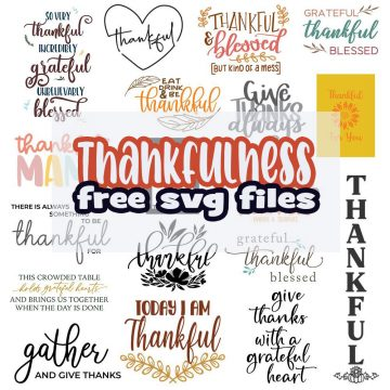 Thankful Themed Free SVG Files